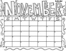 Cute Printable Calendars---I\'m thinking for students\' take home ...