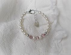Baby BraceletsFirst PearlsPink Princess Baby by sugarontopjewelry, $17.50