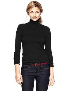 30 Popular Black Turtleneck Outfit Ideas For Fall And Winter This Year - Consistently, around the time that the temperature begins to drop design cognizant dress wearers are looked with the new test, of how to remain chic, . Fall Outfits, Casual Outfits, Black Outfits, Casual Clothes, Office Outfits, Work Outfits, Black Sweaters, Sweaters For Women, Ribbed Turtleneck