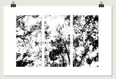 Black & White Trees Modern Pop Photography by SmokestackPhotomat, $25.00