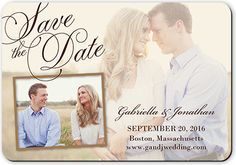 Romantic Overlay Magnet | Save the date magnets