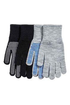 2-pack gloves - Black/Grey - Kids   H&M IE 1