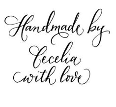 FREE PAD Handmade by /'Your Name/' Personalised Vintage Rubber Stamp
