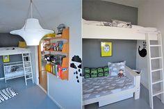camas literas en dormitorios infantiles