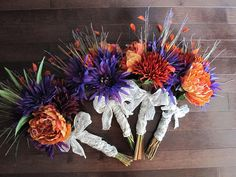 Purple and Orange Wedding Bouquets | Flickr - Photo Sharing!