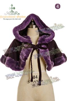 fanplusfriend - Classic Gothic Lolita Wool Fine Fur Warm Hood Short Cape, $75.65 (http://www.fanplusfriend.com/classic-gothic-lolita-wool-fine-fur-warm-hood-short-cape/)