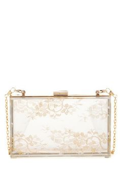 Pink Cosmo Acrylic Lace Box Clutch by Non Specific on @HauteLook