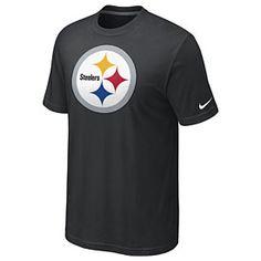 4336f4430 Pittsburgh Steelers Nike NFL Oversized Logo T-Shirt (Black)