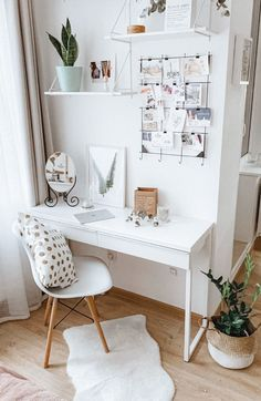 Study Room Decor, Cute Room Decor, Room Ideas Bedroom, Girl Bedroom Designs, Bedroom Decor, Home Office Decor, Home Decor, Office Ideas, Office Designs
