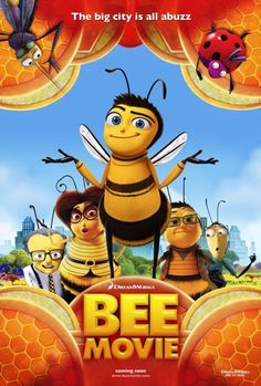 BEE MOVIE Script -- Written by Jerry Seinfeld and Spike Feresten & Barry Marder & Andy Robin. Additional screenplay material by Chuck Martin & Tom Papa. Animation Movies Download, Animation Film, Dreamworks Animation, Romantic Comedy Movies, Comedy Films, Disney Films, Disney And Dreamworks, Disney Cartoons, Bee Movie Script