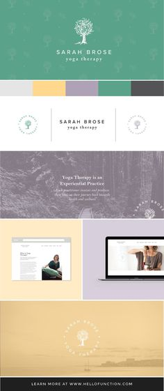 Brand design by Danielle Joseph at Function Creative Co. for a wonderful yoga therapist. Click the image to see the full project along with the matching website design.