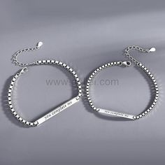 You Complete Me Couple Bracelets Set for 2 by Gullei.com Personalized Couples Gifts   Matching Necklaces & Bracelets   Custom Promise Rings
