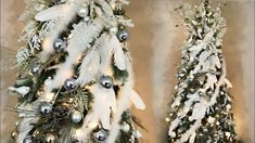 Elegant Feather Christmas Tree  - White, Ice Blue, & Gold - Tree Decorating