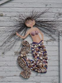 Make a mermaid with all those shells from the beach. :-)