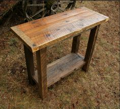 Image detail for -Reclaimed Rustic Barnwood Console Sofa Table
