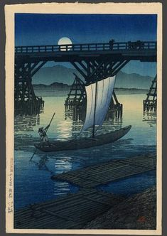 Kawase Hasui: Asahi Bridge in Kosentani - The Art of Japan