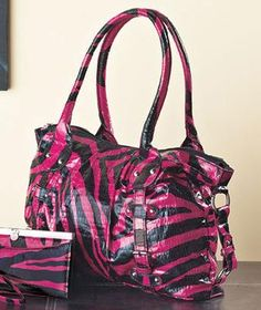 Super Cool Hot Pink Zebra Handbag-Fabulous Purse! Photons!