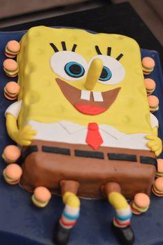 Spongyabob tortát csináltam a kislányom szülinapjára