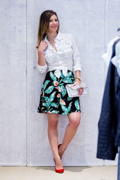 Floral prints, suede heels | Well-living BlogWell-living Blog
