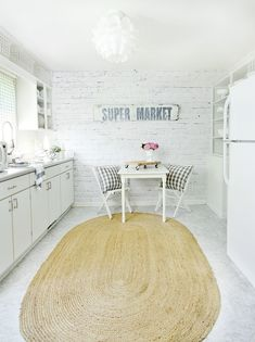 Farmhouse Kitchen Makeover With Faux Brick Wall