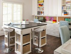 Classic Chic Home: 9 Picture Perfect Craft Room Designs