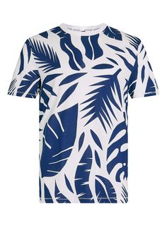 All Over Floral Slim Fit T-Shirt - Print & Patterned T-Shirts - Men's T-shirts…