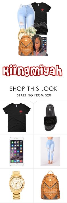 """""""Fentyyy 😛"""" by kiingmiyah ❤ liked on Polyvore featuring Puma, Michael Kors and MCM"""