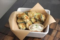 Baked Zucchini with Buttermilk Ranch Dip Recipe on Yummly
