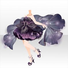 上半身/インナー シャイニーファンタジアドレスAブラック Manga Clothes, Drawing Clothes, Kawaii Chibi, Cute Chibi, Art Sketches, Art Drawings, Clothing Sketches, Anime Dress, Cocoppa Play