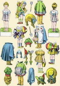 All about dollhouses and miniatures: Allerlei aankleedpoppen voor het poppenhuis