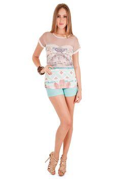 12330 - Blusa | 05552 - Shorts