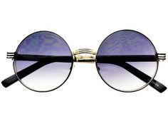 STYLISH SILVER METAL RETRO VINTAGE CIRCLE ROUND SUNGLASSES R1811