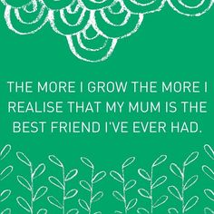 Take a moment to appreciate your mum this weekend