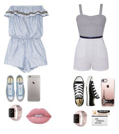 """2 summer outfits"" by zaicute on Polyvore featuring beauty, Lemlem, Olive + Oak, Converse, Casetify, Lime Crime and Chapstick"