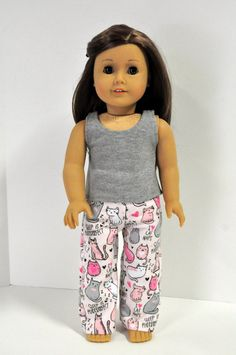 18 Inch Doll Clothes  Gray Sleeveless Tank Top by CircleCSewing