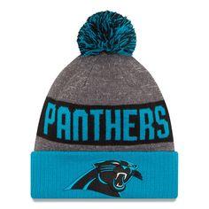 Men's Carolina Panthers New Era Heather Gray 2016 Sideline Official Sport Knit Hat