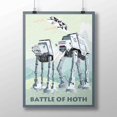 New Star Wars poster! Battle of Hoth print with the famous AT-AT walkers!