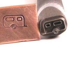 Caravan trailer 8 x 4.5 mm design stamp professional grade with you in mind for all metals.