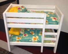 American Girl Doll bunk beds with custom made bedding  www.pastor-rick-handymanservice.com $98.00
