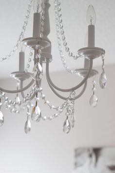 diy urchin chandelier Painted Chandelier, Chandelier Lighting, Crystal Chandeliers, Chandelier Crystals, Brass Chandelier Makeover, Vintage Crystal Chandelier, Bubble Chandelier, Chandelier Ideas, How To Make A Chandelier
