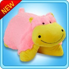 Neon Hippo Pillow Pet® I've this one as a hat...'tis a hipp! 'Tis a hat! 'Tis a hippo hat! +D