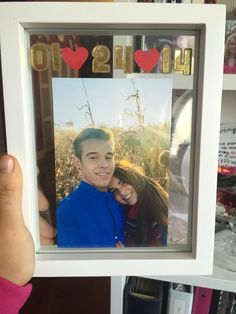 The adorable frame I made my boyfriend for our two year anniversary