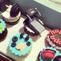 Gym theme cupcakes