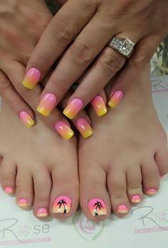 Pedicure Designs, Toe Nail Designs, Pretty Nail Designs, Pedicure Ideas, Summer Toenail Designs, Fingernail Designs, Nail Ideas, Nails Design, Art Designs