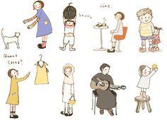 cute free Japanese illustrations