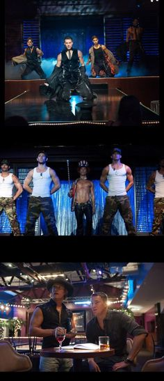 For Amie!  Channing Tatum, Matthew McConaughey, Adam Rodriguez and Matt Bomer strip down in new 'Magic Mike' publicity pictures. Their chiseled abs are easy on the eyes. The movie will be out in theaters on June 29, 2012.