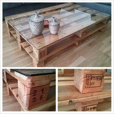 Pallet based coffee table