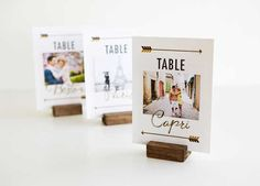 creative table number cards