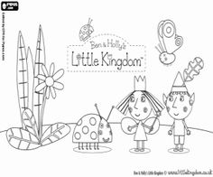 Coloring Book: Ben and holly coloring pages printable Monster Coloring Pages, Coloring Pages To Print, Coloring Book Pages, Printable Coloring Pages, Coloring Pages For Kids, Coloring Sheets, Ben And Holly Party Ideas, Ben And Holly Cake, Ben E Holly