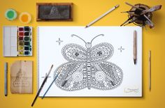 butterfly adult coloring